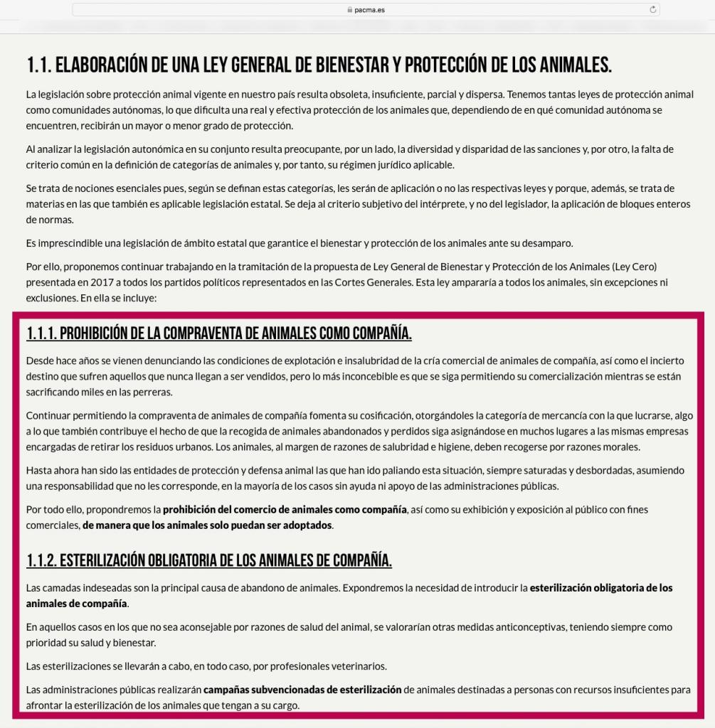 pacma2eleccionesgrales2019